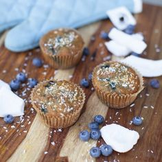 #PureFuel: Coconut Blueberry #Muffins by @annielawless23   ½ cup coconut flour, sifted ½ teaspoon sea salt ½ teaspoon baking soda 6 eggs 1/3 cup coconut nectar 1/3 cup coconut oil, melted 1 tablespoon vanilla extract 1 cup frozen blueberries shredded coconut for garnish