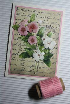 Vintagekarte mit 3D-Motiv, Botanical