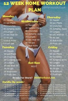 12 Week No-Gym Home Workout Plans