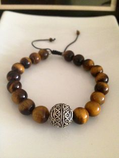 Men's Tiger Eye Bracelet on Etsy, $25.00