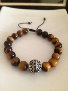 Men's Tiger Eye Bracelet on Etsy, $25.00
