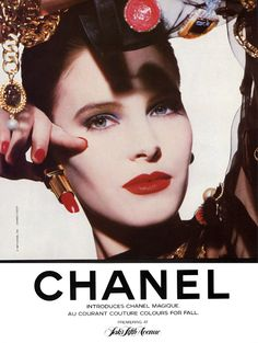Vintage Chanel Ad #Colors #Makeup