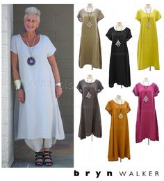 """BRYN WALKER Light Linen WINSLOW DRESS. This is the WINSLOW Dress from BRYN WALKER'S Light-weight Linen 2017 clothing line. BRYN WALKER USA. """"BRYN WALKER, 100% Linen,Made in USA, Machine Wash, Tumble Dry Low."""". 