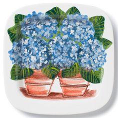 "VIETRI - Wall Plates (food safe) - 'Hydrangeas', 16"" | Plum Pudding Gourmet Kitchen Store"