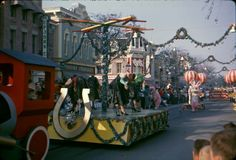 Merry 1961 Christmas! Dig this Christmas Parade at Disneyland in December of the Big Six-One!