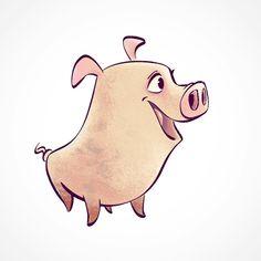 Piggy :) #vancouver #costarica #canada #luisgadea #illustration #sketch #painting #digital #digitalart #digitalpainting #pig #animals #art #arte #dibujo #drawing