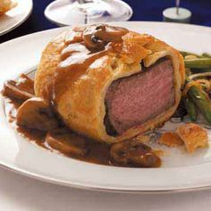 Individual Beef Wellingtons Recipe - What I made for supper this evening. One of my favorites! for vday dinner