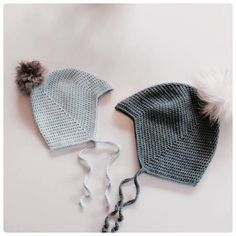 Djævlehue – loops of liberty Knitting For Kids, Baby Knitting Patterns, Crochet For Kids, Baby Patterns, Crochet Patterns, Diy Crochet Clothes, Crochet Baby Toys, Bonnet Crochet, Crochet Hats