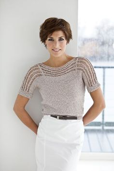 Knitted with fancy yarn smooth right this sweater is … - Easy Yarn Crafts Strickpulli im Stil von VPL - Emel Kurdoğlu - Lenas Welt Knitted with fancy yarn easy proper this sweater is the brand new favourite half for the summer time. Summer Knitting, Free Knitting, Love Crochet, Crochet Lace, Diy Crafts Knitting, Knit Fashion, Crochet Clothes, Pulls, Knitting Patterns