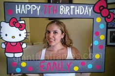 Hello Kitty / Photo Booth / Photo Prop / Party by GiantFunFrames