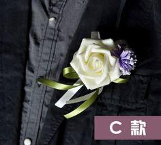 Groomsmen-Flower-Boutonniere-Rose-Wedding-Groom-Rose-Bud-Silk-Flower-Boutonniere