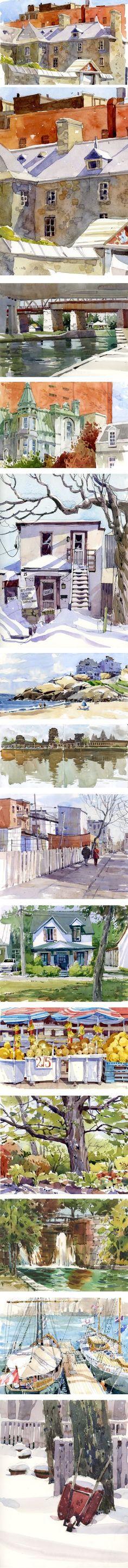 Shari Blaukopf, watercolors, urban sketches