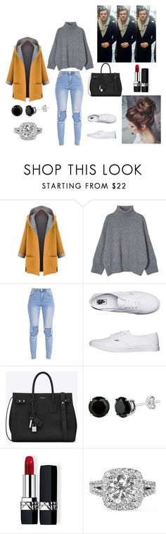 """NYC with Harry"" by madisonmilwardstyles ❤ liked on Polyvore featuring WithChic, Vans, Yves Saint Laurent, Christian Dior, Vera Wang, OneDirection and harrystyles"