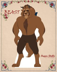 Beauty and the Beast paper dolls by Cory Jensen