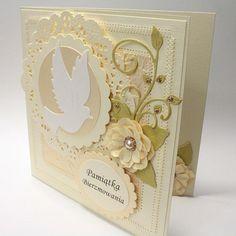 Kartka, pamiątka bierzmowania, bierzmowanie - Zdjęcie na imgED Confirmation Cards, Baptism Cards, Words For Sympathy Card, First Communion Cards, Diy And Crafts, Paper Crafts, Diy Gift Box, Unique Cards, Baby Cards