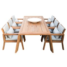 Wooden Dining Tables, Dining Chair Set, Outdoor Dining, Outdoor Decor, Garden Furniture, Diy Furniture, Outdoor Furniture Sets, House By The Sea, New Homes