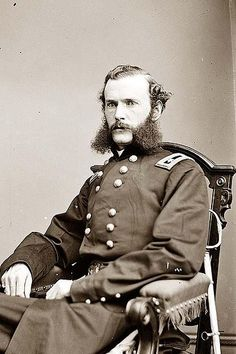For his actions at Prairie Grove, Herron was appointed major general of volunteers, becoming the youngest major general on either side at the time of his promotion. Yazoo, Major General, America Civil War, Civil War Photos, Epic Beard, Le Far West, Military History, Civilization, American History