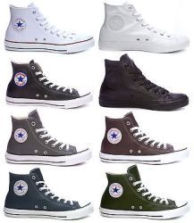 458aedf52c0 Converse Chuck Taylor All Star Specialty Genuine Leather Hi-Top Hi Top  Converse