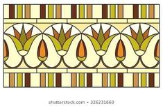 Ilustração de Lotus in the ornament of ancient Egypt to the frescoes, stained-glass window or border arte vetorial, clipart e vetores stock. Egyptian Drawings, Egyptian Art, Lotus Flower Art, Ancient Egypt Art, Illustration Art Nouveau, Painted Glass Vases, Art Antique, Mosaic Pictures, Feather Art