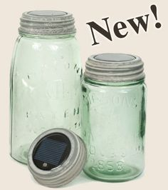 "Colonial Tin Mason Jar ""New Solar Lid Light - Set of 2 Weathered Galvanized"" Colonial,http://www.amazon.com/dp/B00BXPI896/ref=cm_sw_r_pi_dp_1KvGsb04BBHTDS9M"