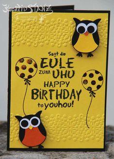 Kreativ-Stanz Eule Stanze Uhu Geburtstag Stampin' Up! #stampinup #owl http://kreativstanz.bastelblogs.de/