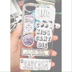 Cool diy tumblr phone case I made!!! :)