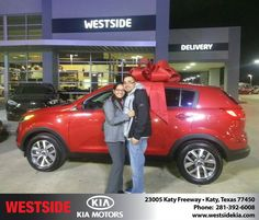 https://flic.kr/p/DA6Cai | Happy Anniversary to Carlos  from Rubel Chowdhury at Westside Kia! | deliverymaxx.com/DealerReviews.aspx?DealerCode=WSJL