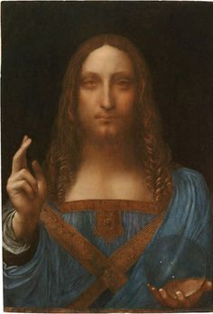 Leonardo da Vinci, Salvator Mundi (Savior of the World), c.1500, oil on a wood panel