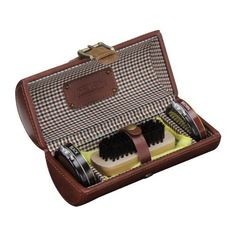 Birthday Gifts For Virgo -Jacob Jones Men's Accessories | Tan Shoe Shine Kit #Birthday #Gift #GiftIdeas #Astrology #Virgo