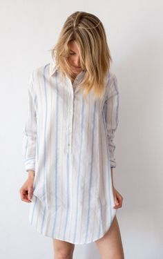 Beige con raya azul clarito Color Beige, Cover Up, Outfits, Dresses, Fashion, Women's Camisoles, Blue Stripes, Light Blue, Girly