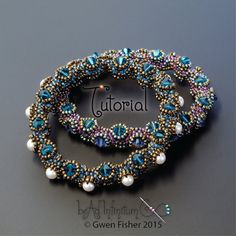 TUTORIAL Tentacle Bangle Bracelet Beaded with von gwenbeads auf Etsy