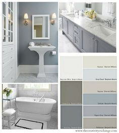 Favorite-Bathroom-Wall-and-Cabinet-Colors-Paint-It-Monday-The-Creativity-Exchange.jpg pixels - Favorite-Bathroom-Wall-and-Cabinet-Colors-Paint-It-Monday-The-Creativity-Exchange. Home, Bathroom Makeover, Home Remodeling, Bathroom Colors, Painting Bathroom, Bathrooms Remodel, Bathroom Design, Bathroom Decor, Choosing Paint Colours