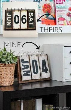 world market inspired perpetual calendar diy, crafts, woodworking projects
