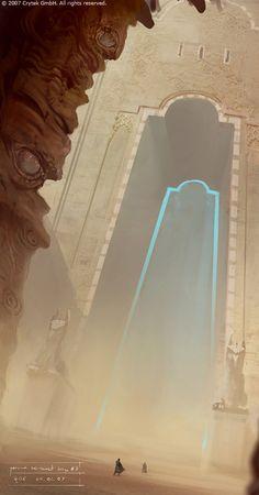 [Desert Gate Concept Art by Maciej Kuciara]