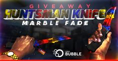 Win Huntsman Knife Marble Fade