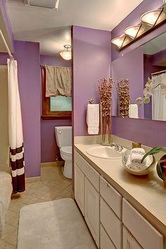 Purple bathroom!  Love!