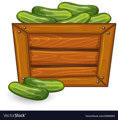 Cucumber on wooden banner vector image on VectorStock Letter Z Crafts, Vegetable Crafts, Health And Fitness Magazine, Down On The Farm, Banner Vector, Adobe Illustrator, Cucumber, Markers, Asos