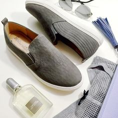 Gray Leather Croc Embossed Slip On Sneakers Details: • Size 9 • Croc embossed nubuck • Slip on style • Embossing is more/less prominent in some spots, this is due to the nature of the leather and should not be considered a mistake • Brand new in box   04011617 Splendid Shoes Sneakers