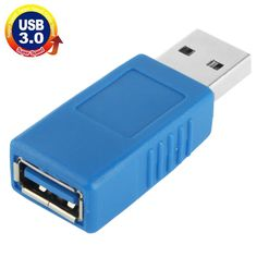 [$1.18] USB 3.0 AM to USB 3.0 AF Cable Adapter (Blue)