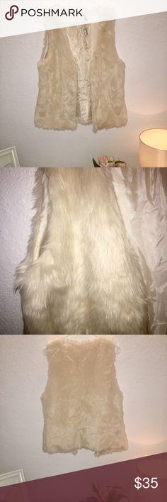 Papaya soft Faux Fur Vest🌹 Brand New with tag. Super cute and soft faux fur vest. Papaya Jackets & Coats Vests