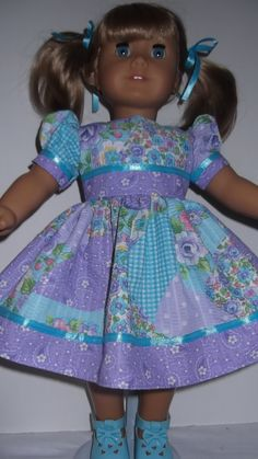 American Girl Doll Clothes - Pastel Spring Dress. $16.00, via Etsy.
