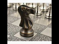 Deluxe Series Brass Metal Luxury Chess Pieces & Board Set- 15″ -Rosewood...