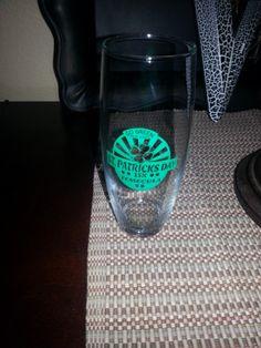 Stemless wine glass!