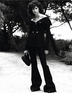 visual optimism; fashion editorials, shows, campaigns & more!: frenchy: mica arganaraz by david sims for vogue paris september 2014