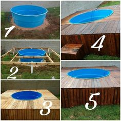 Piscina Pallet, Piscina Diy, Small Indoor Pool, Small Backyard Landscaping, Diy Pool, Swimming Pools Backyard, Small Pool Design, Jacuzzi Outdoor, Backyard Playground