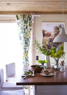 Choose nature-inspired textiles to bring a touch of spring indoors