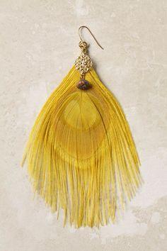 sunbeam quill earrings