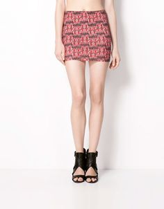 Bershka Turkey - Bershka print skirt