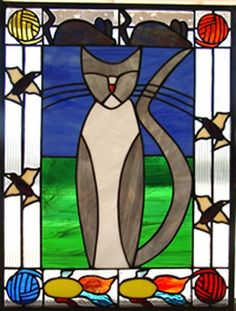 Cat Dreams - Delphi Stained Glass