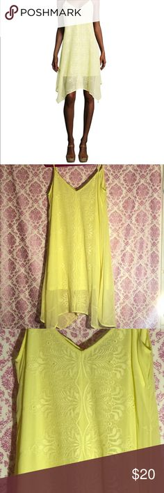 Heartsoul 🖤 Yellow Summer Dress Made in India  Size XL  Style:11AA17668 Silly adjustable Straps  Bust size: 22 inches across  Top to bottom length 28 inches  Embroidered design on the front  No rips or stains Smoke free and pet free house  Fast shipping💖 Fashion Tip: The Perfect Dress for Summer! Just put on this dress grab your towel and sun screen some flip flops and let's hit the beach! 💛☀️ HeartSoul Dresses